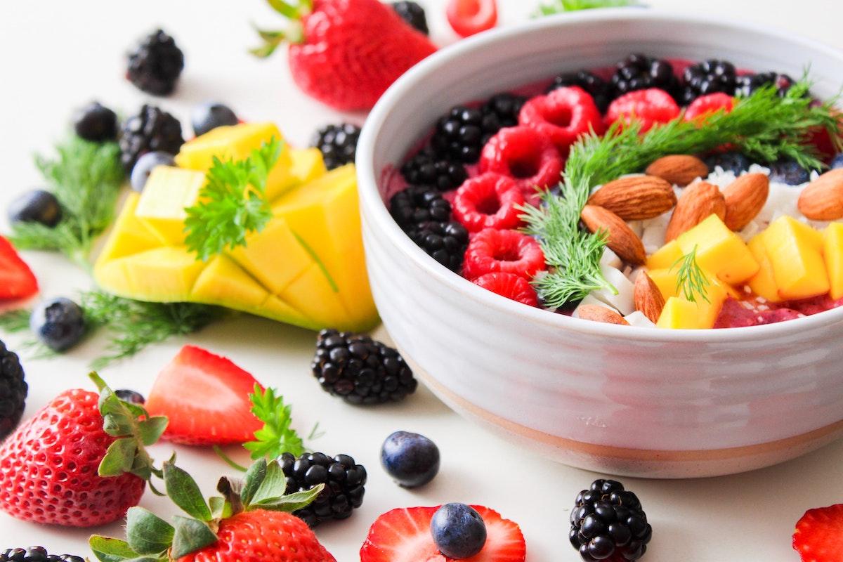 fruit salad colorful fruits