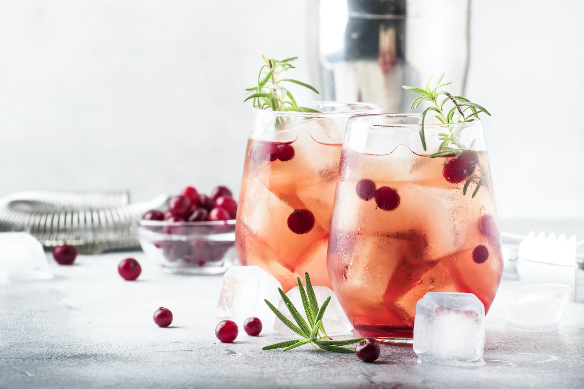 cranberries and cranberry cocktail