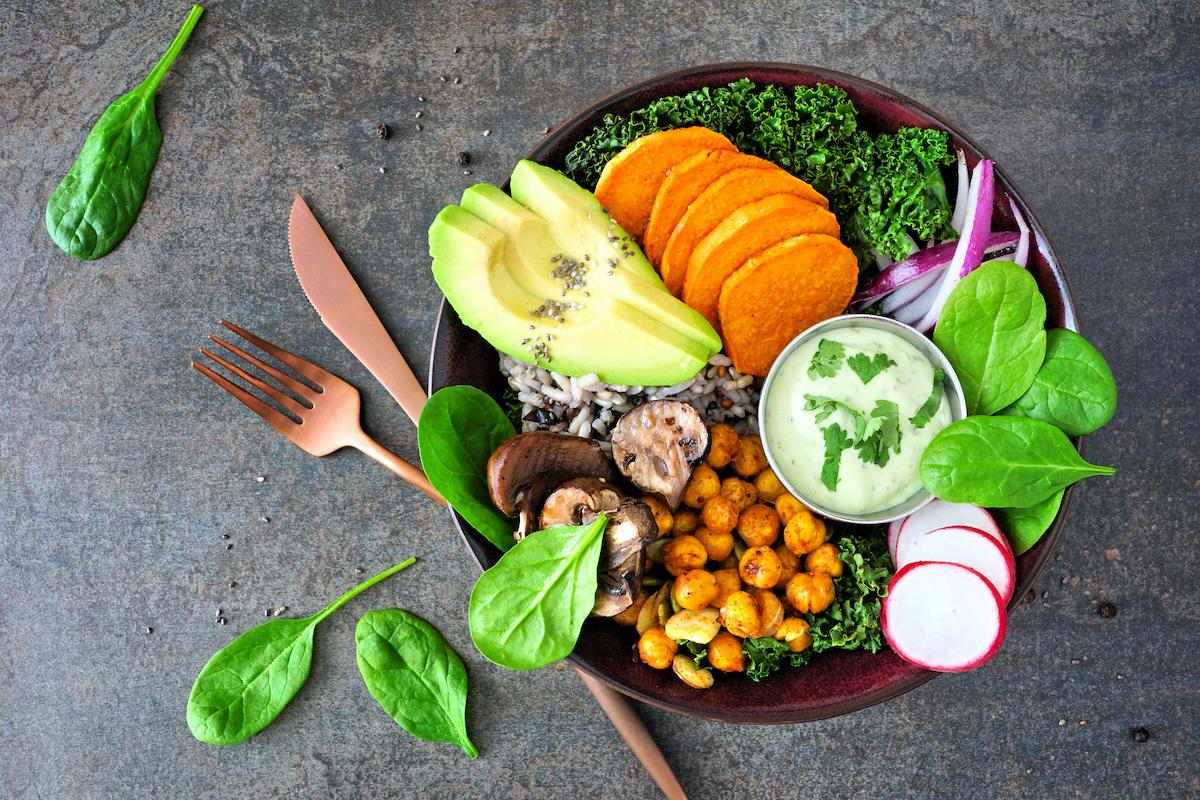 plant-based power bowl, vegan bowl, buddha bowl
