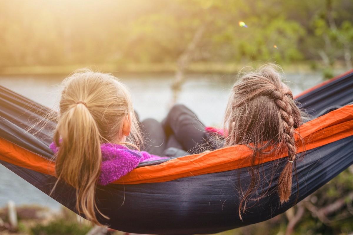 friends in a hammock