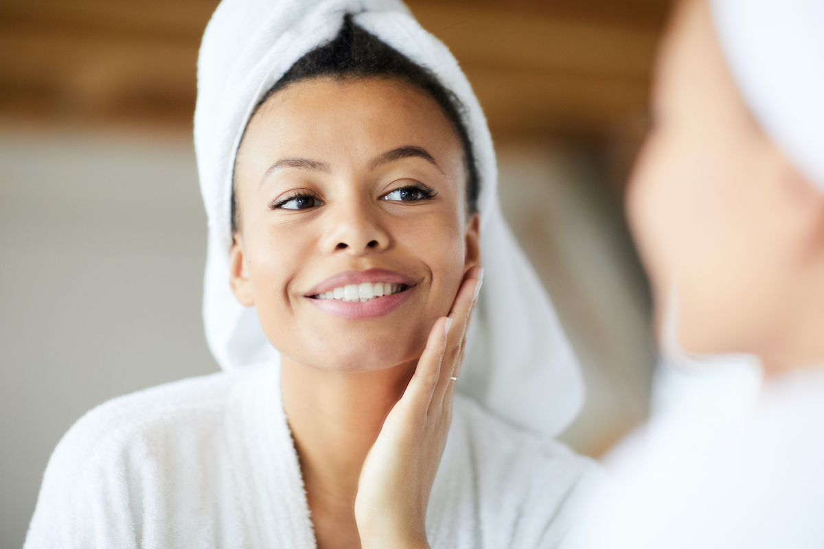 beautiful woman skincare